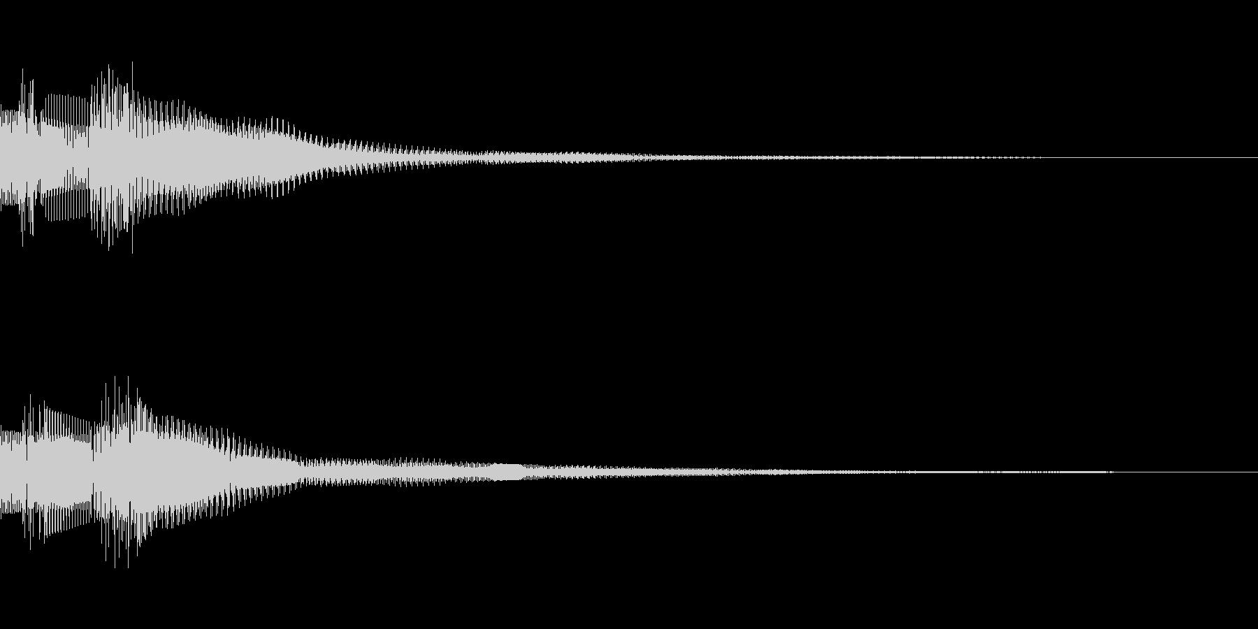 ドヨン(click_決定_03)の未再生の波形