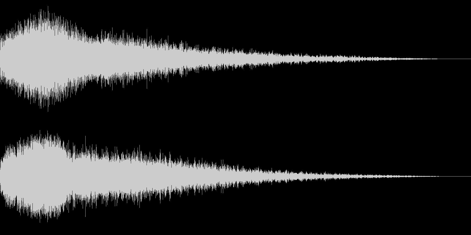 ホラー系アタック音6の未再生の波形