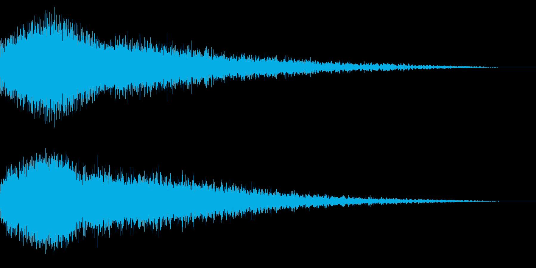 ホラー系アタック音6の再生済みの波形