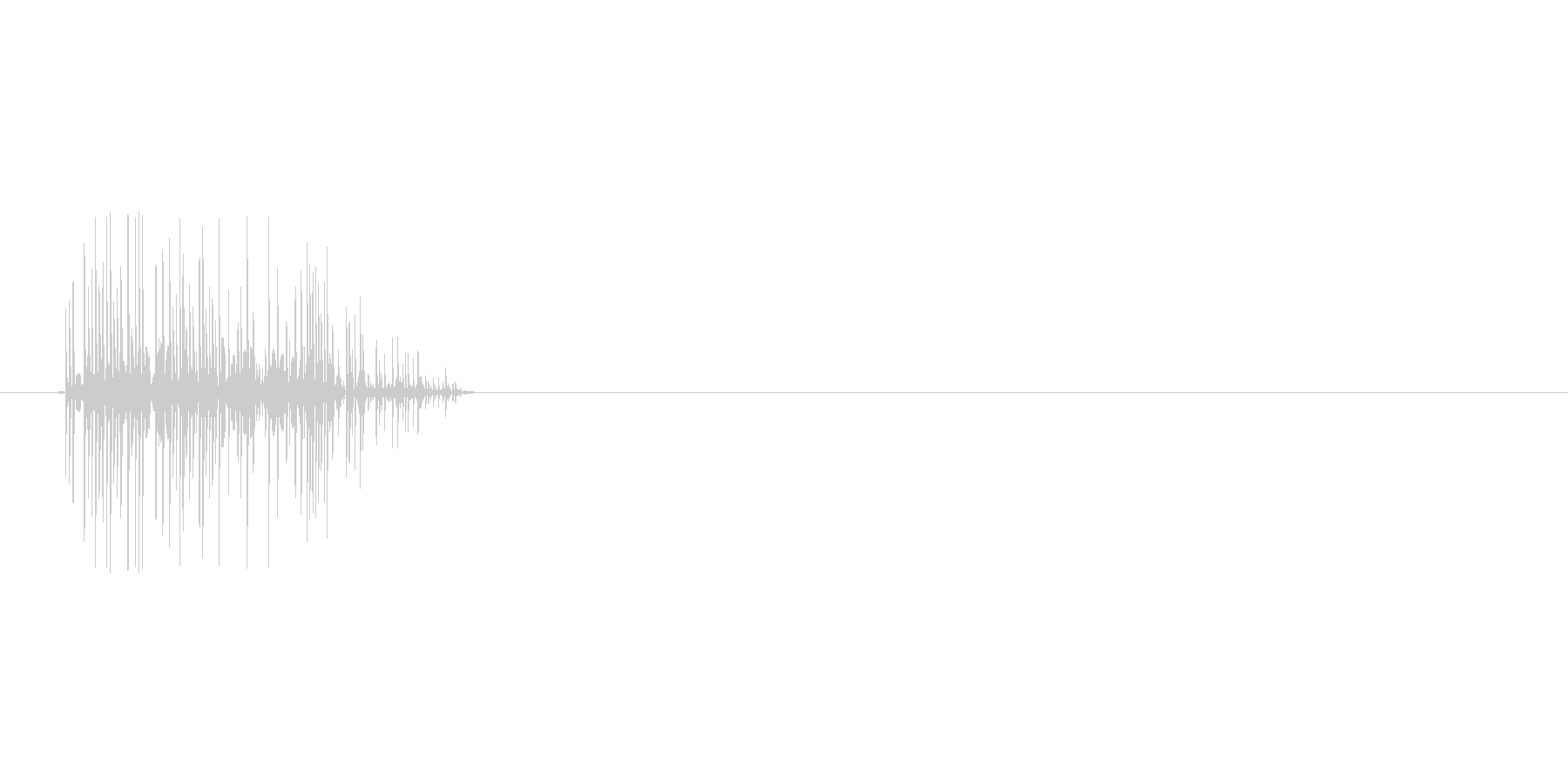 8bitの火炎 ボワッの未再生の波形