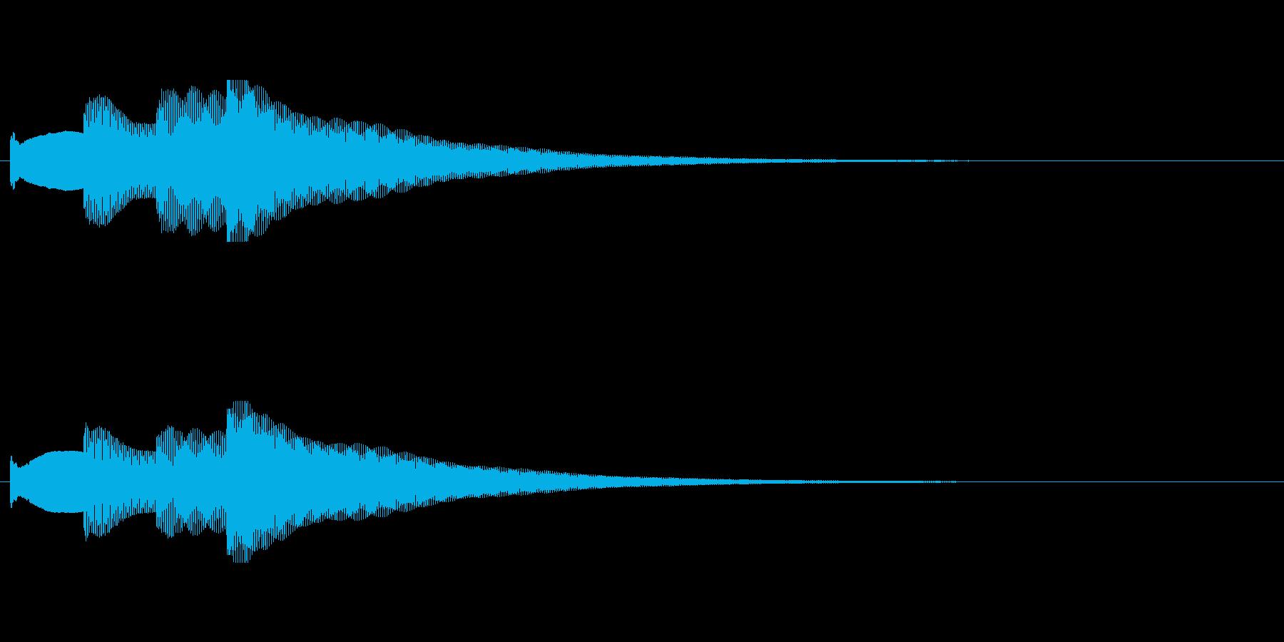 【チャイム アナウンス02-up1】の再生済みの波形