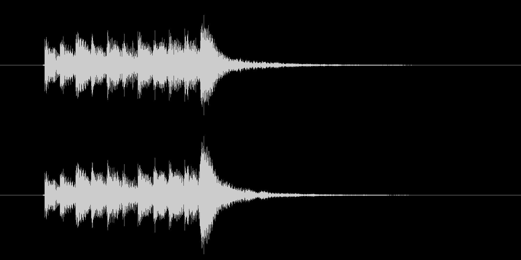鉄琴サンプリング系のアルペジオの未再生の波形