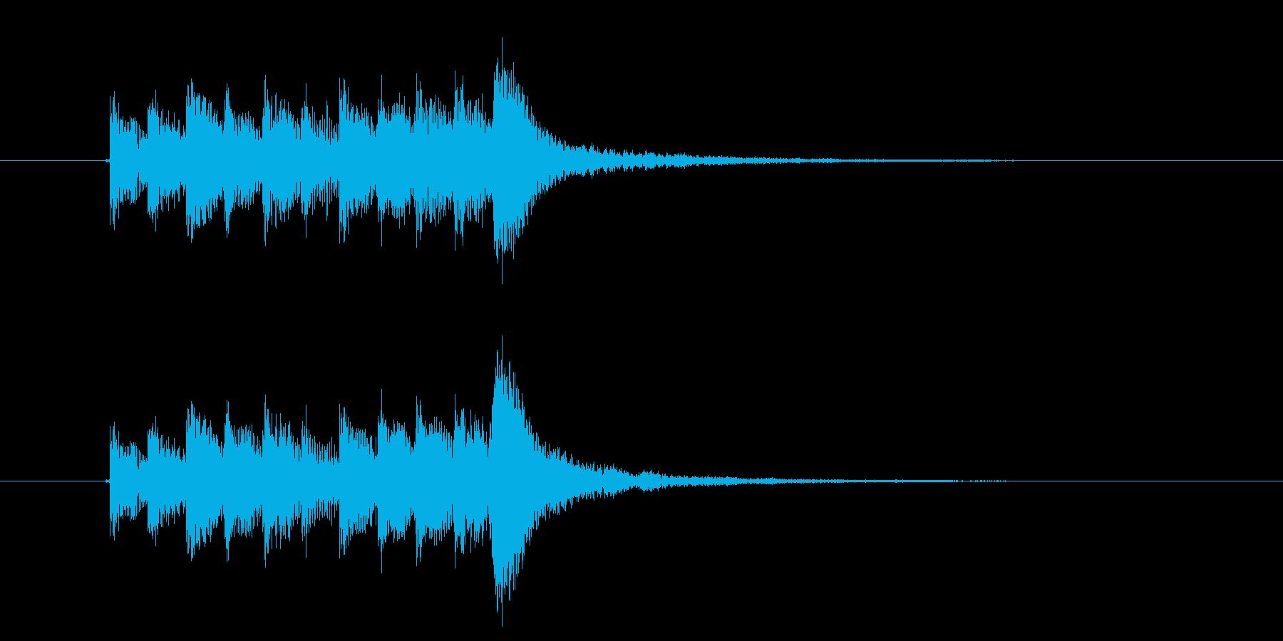 鉄琴サンプリング系のアルペジオの再生済みの波形