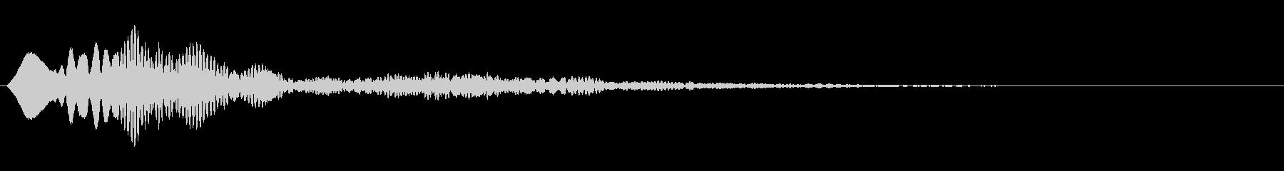 シンプルな決定音3の未再生の波形