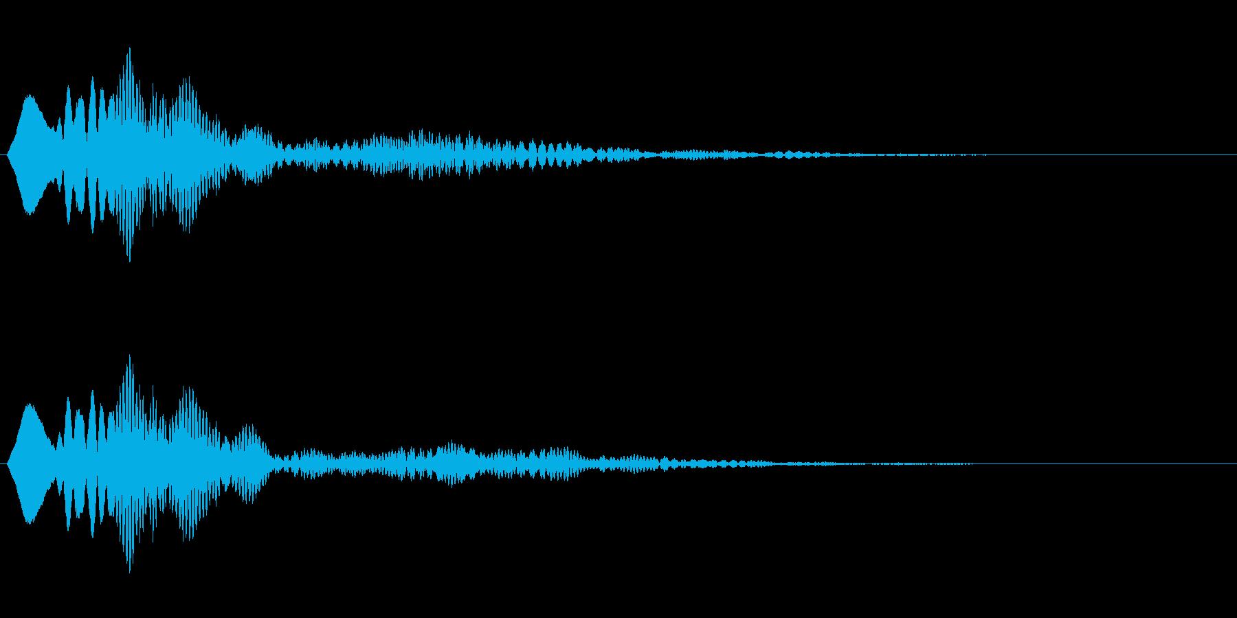シンプルな決定音3の再生済みの波形