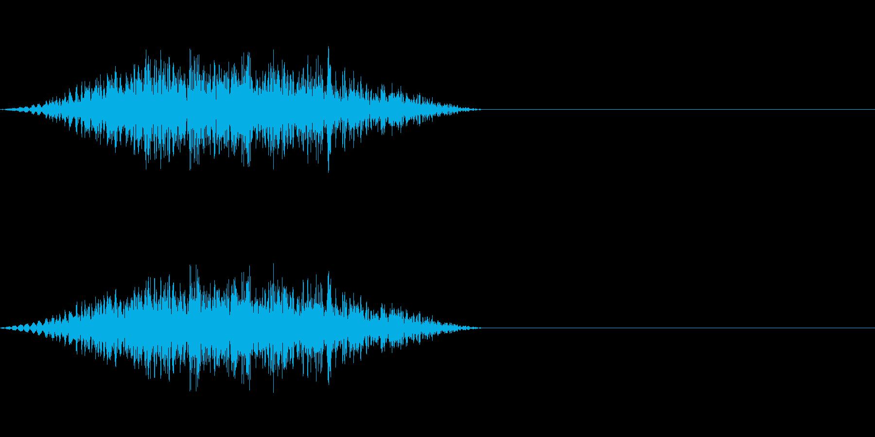 獣などの鼻の音の再生済みの波形