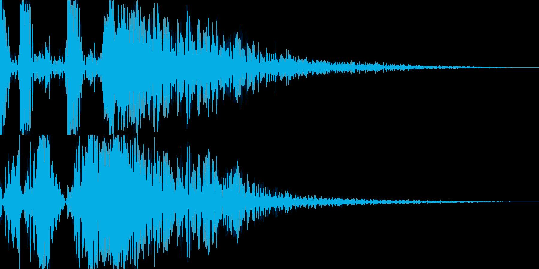 スクラッチ/DJの効果音!11の再生済みの波形