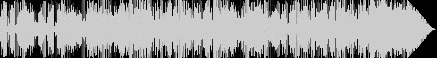 弾むテンポ感とシンセブラスのBGMの未再生の波形