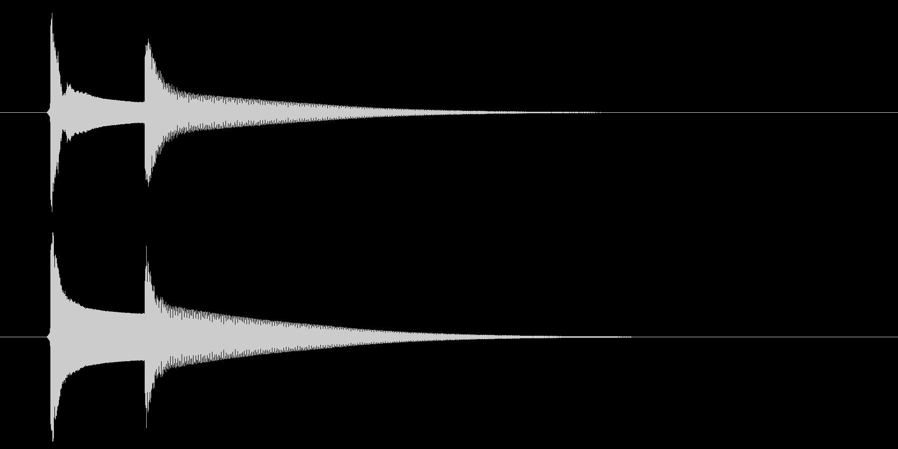 【生録音】ピンポーン(速度-普通)の未再生の波形