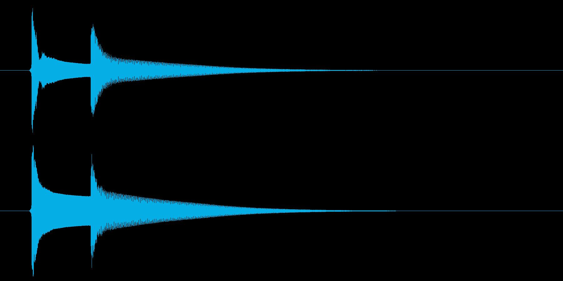 【生録音】ピンポーン(速度-普通)の再生済みの波形