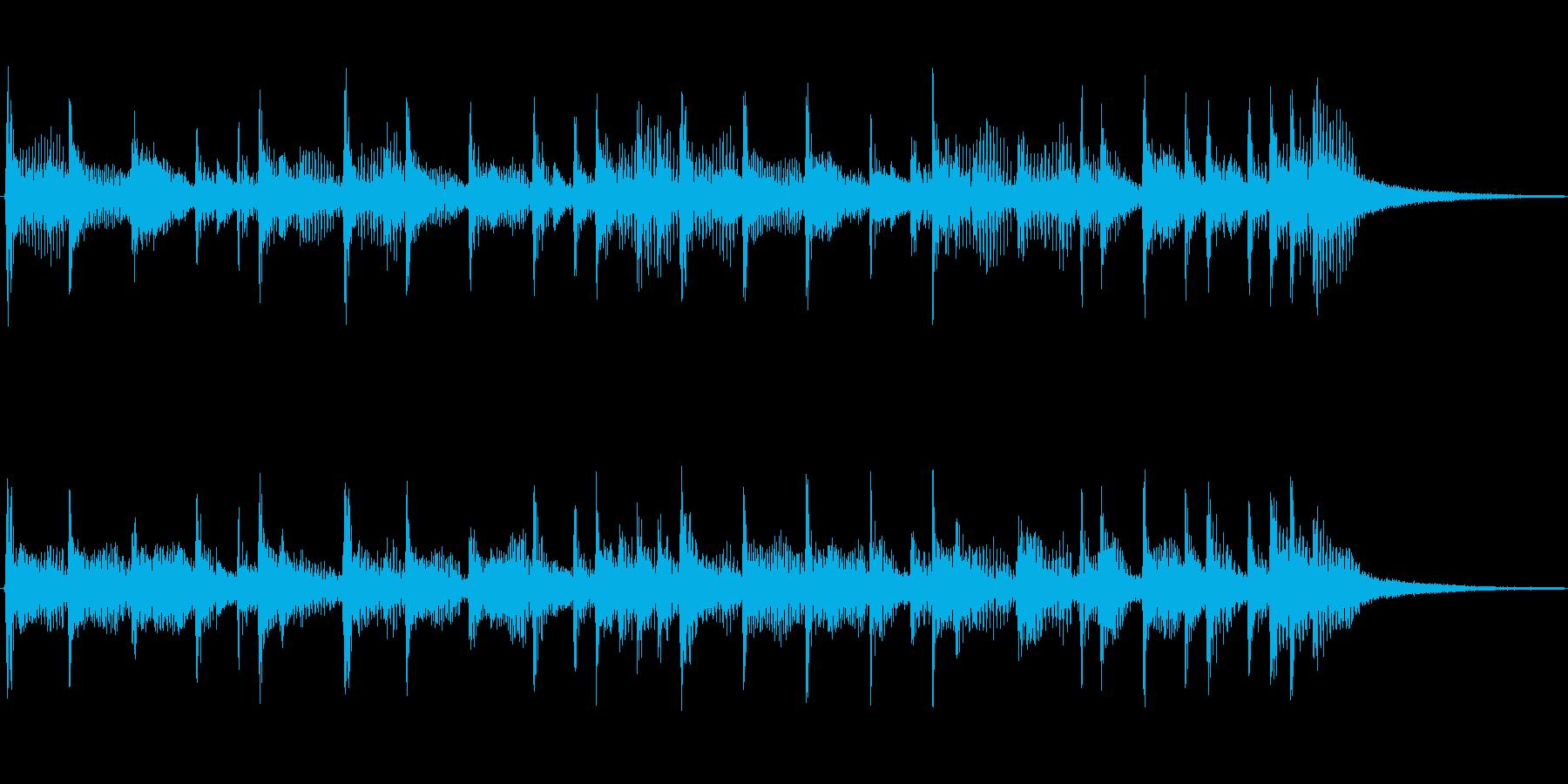 下降するフュージョンジングルの再生済みの波形