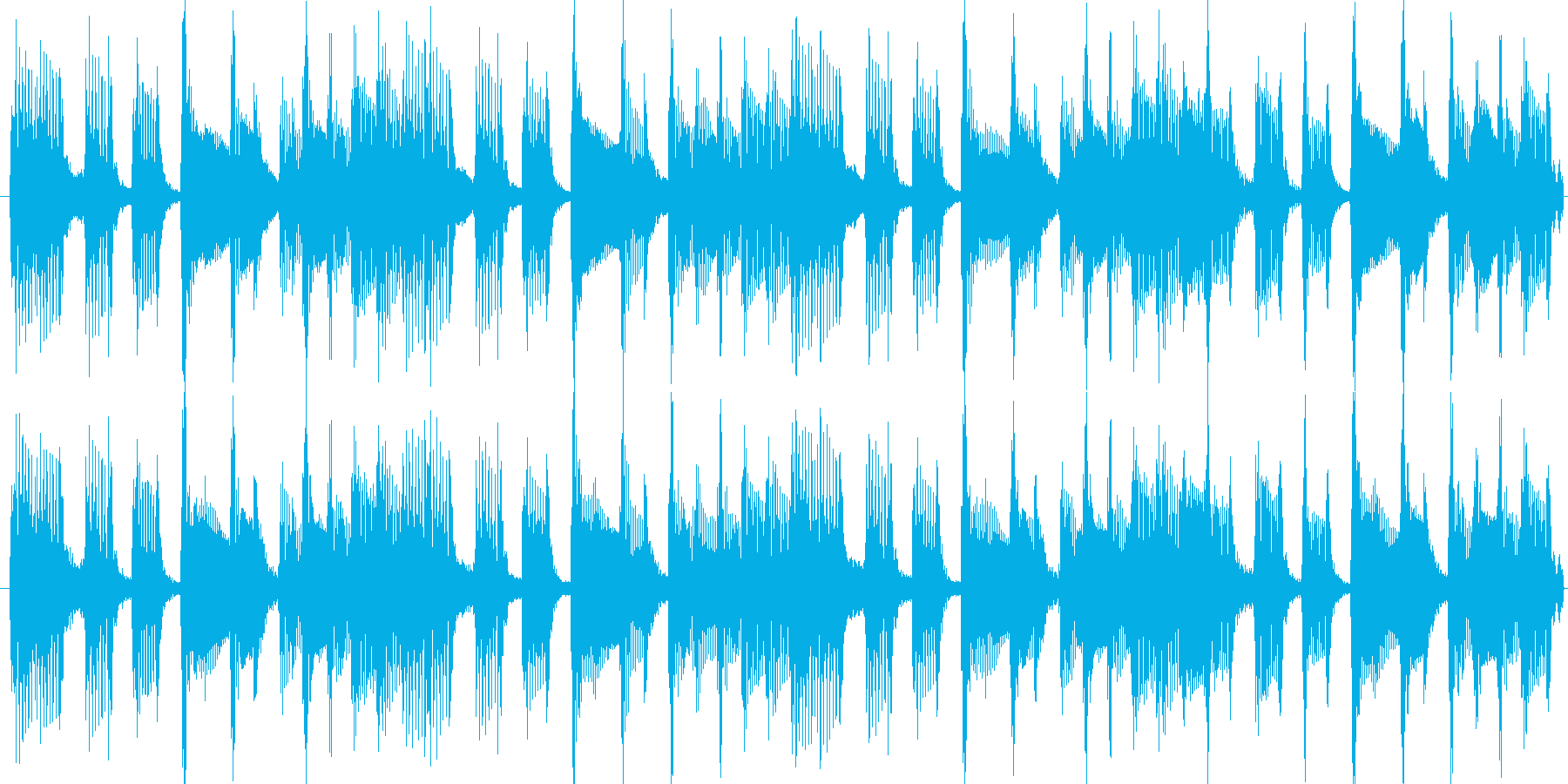 CD音圧。出囃子ピアノバイオリンの再生済みの波形