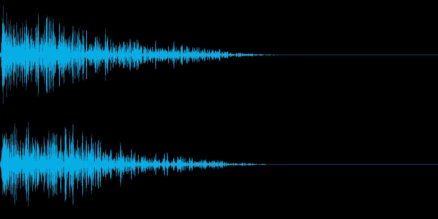 ボワーン (炎の魔法)の再生済みの波形