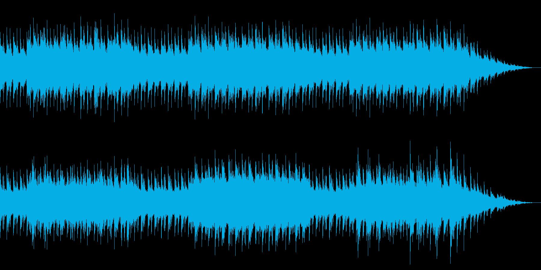 深海をイメージしたヒーリングサウンドの再生済みの波形