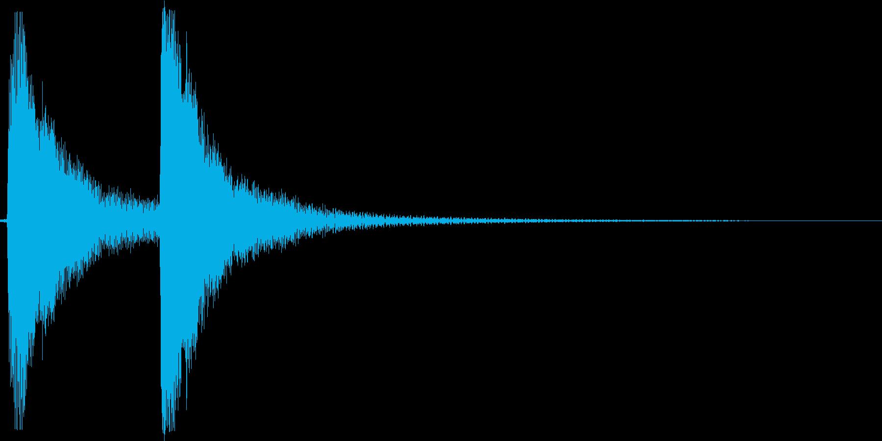 ポカン。しらける・すべる音(高め)の再生済みの波形