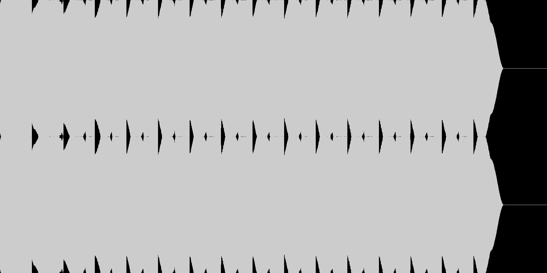 サイレン音 警報 アラーム 緊急速報の未再生の波形