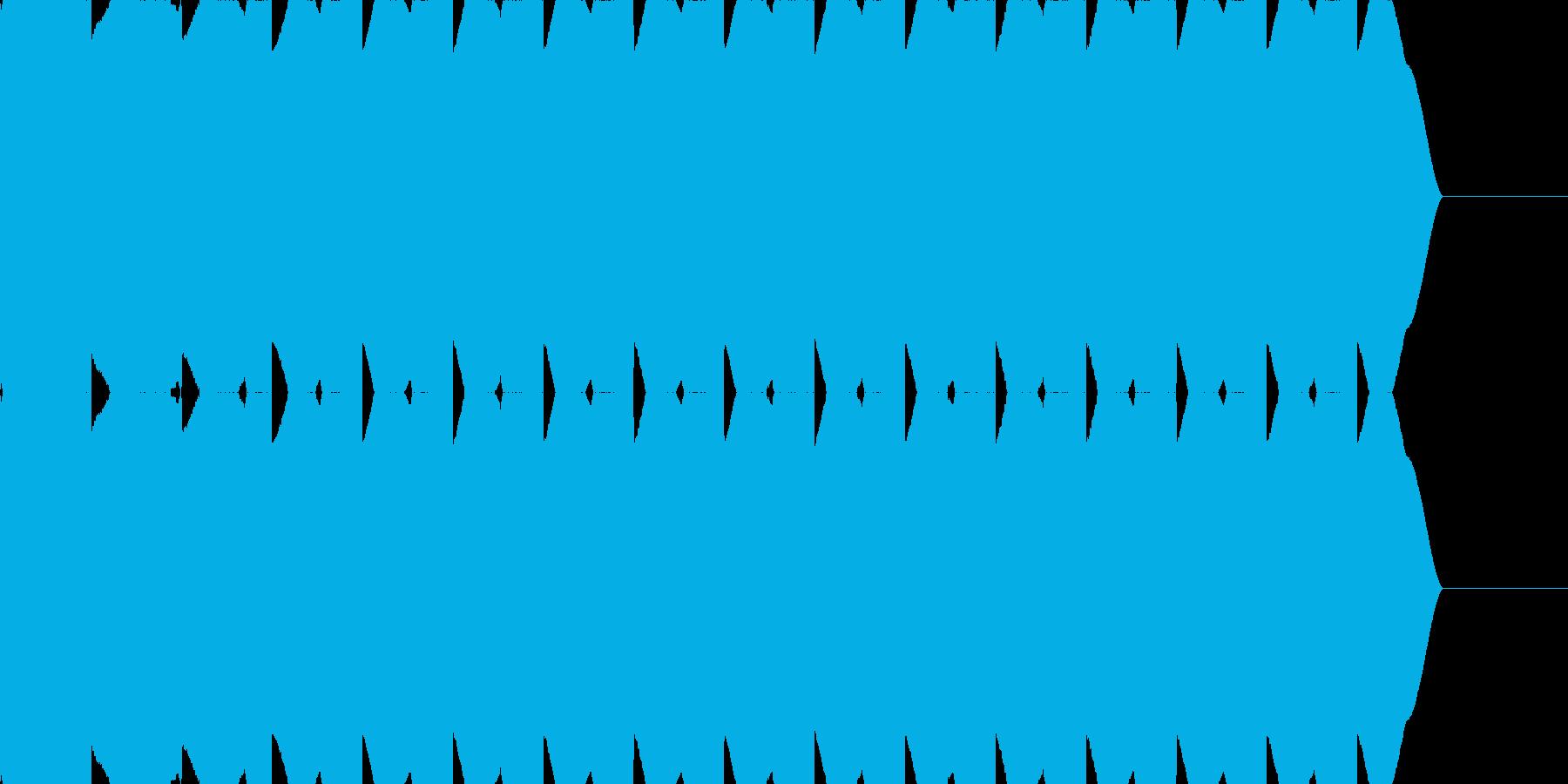 サイレン音 警報 アラーム 緊急速報の再生済みの波形