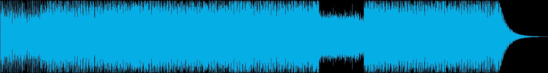 レトロな雰囲気の疾走感がある電子音楽の再生済みの波形