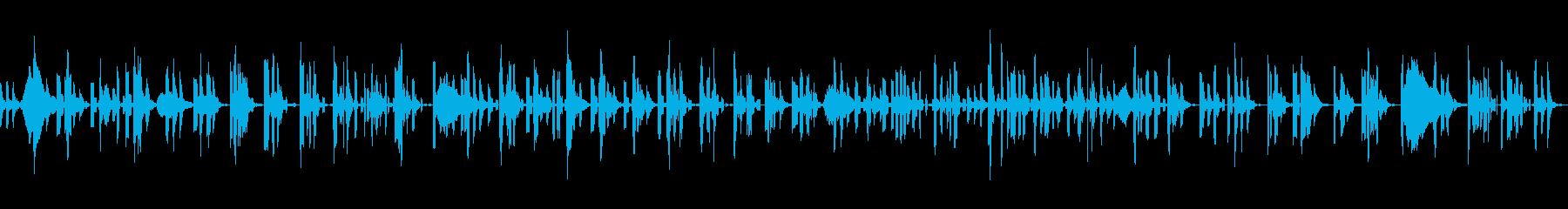 ノイズが印象的な静かで暗いゲーム用BGMの再生済みの波形