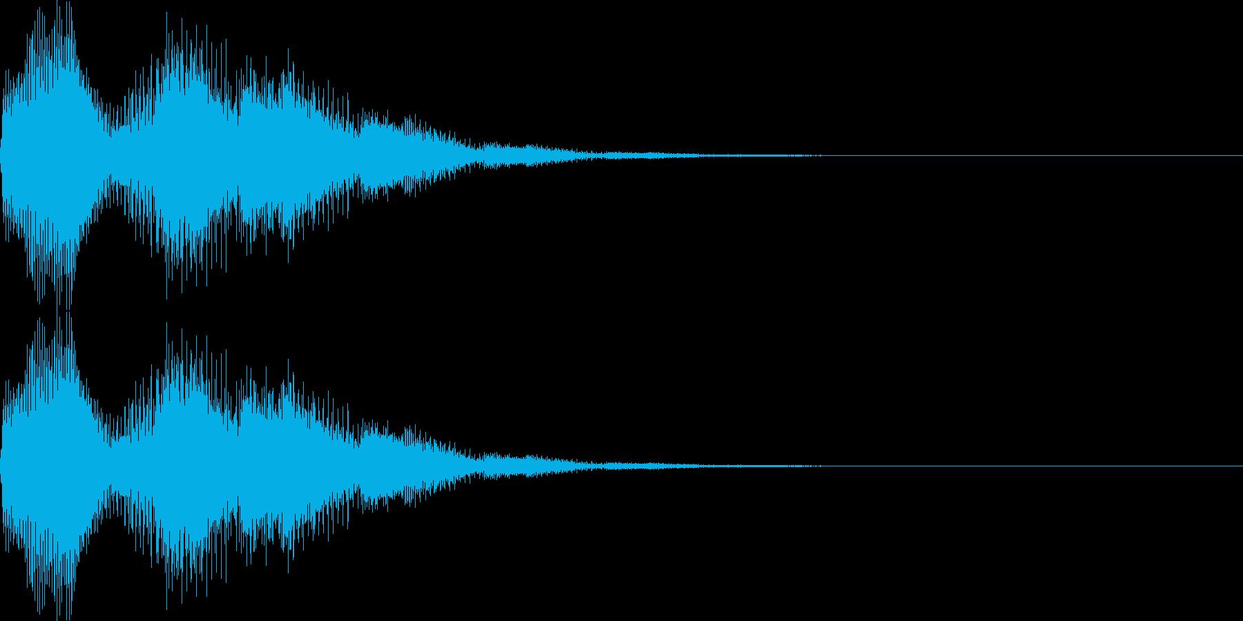 ピロロン(キャンセル、ミス、残念)の再生済みの波形