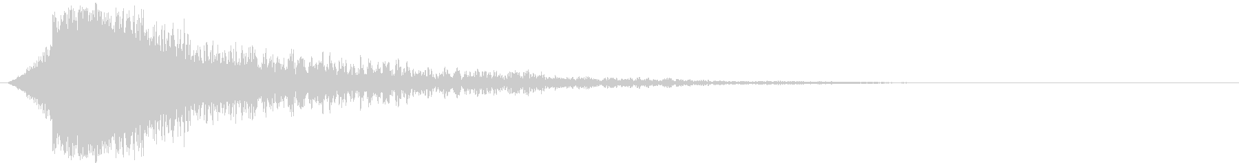 ガキーン 派手な金属音3の未再生の波形