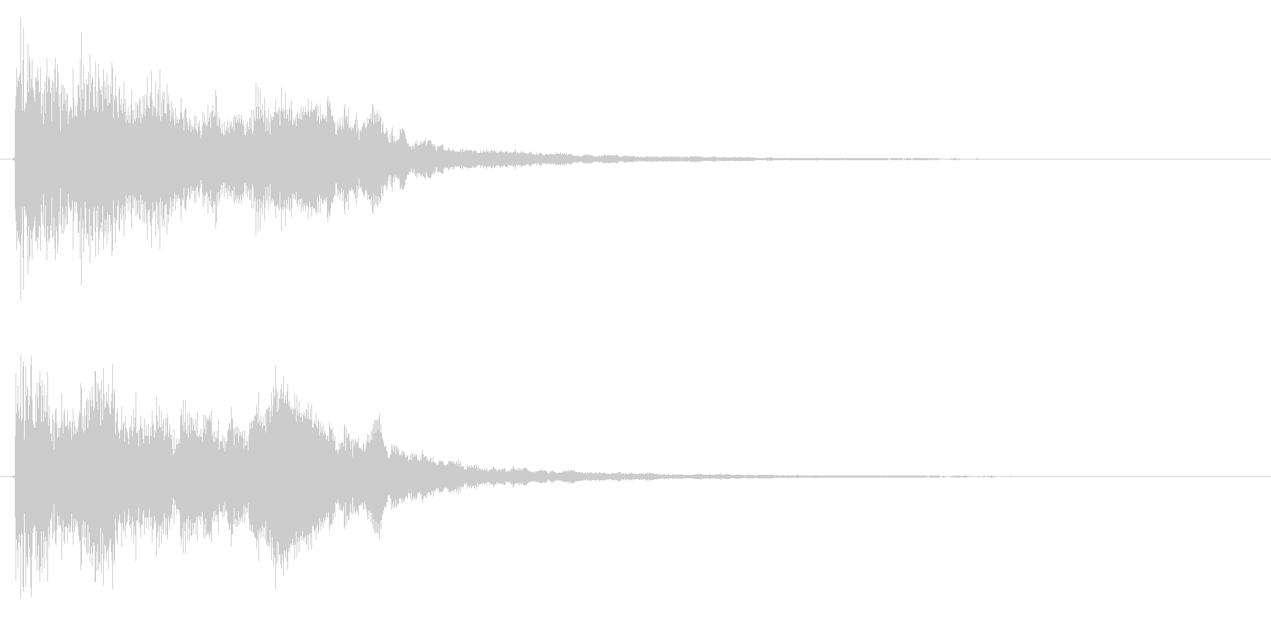 ポジティブ・キラキラな成功・完了音+2の未再生の波形