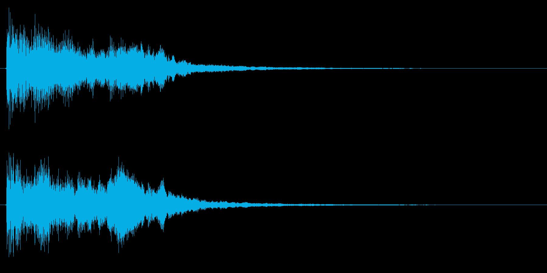 ポジティブ・キラキラな成功・完了音+2の再生済みの波形
