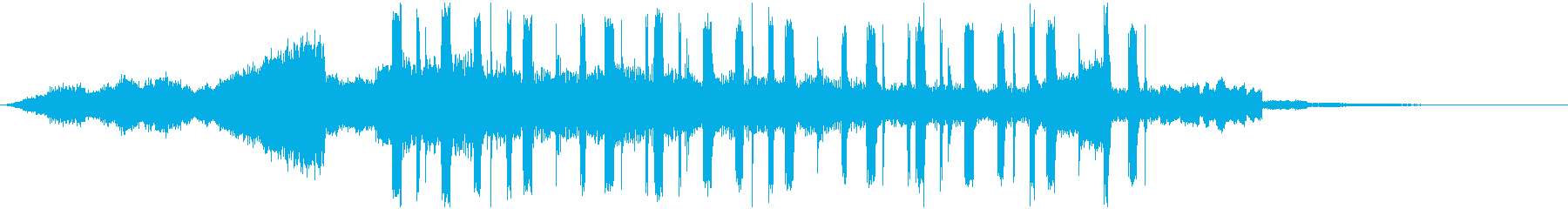 動画コンテンツ用ジングルの再生済みの波形