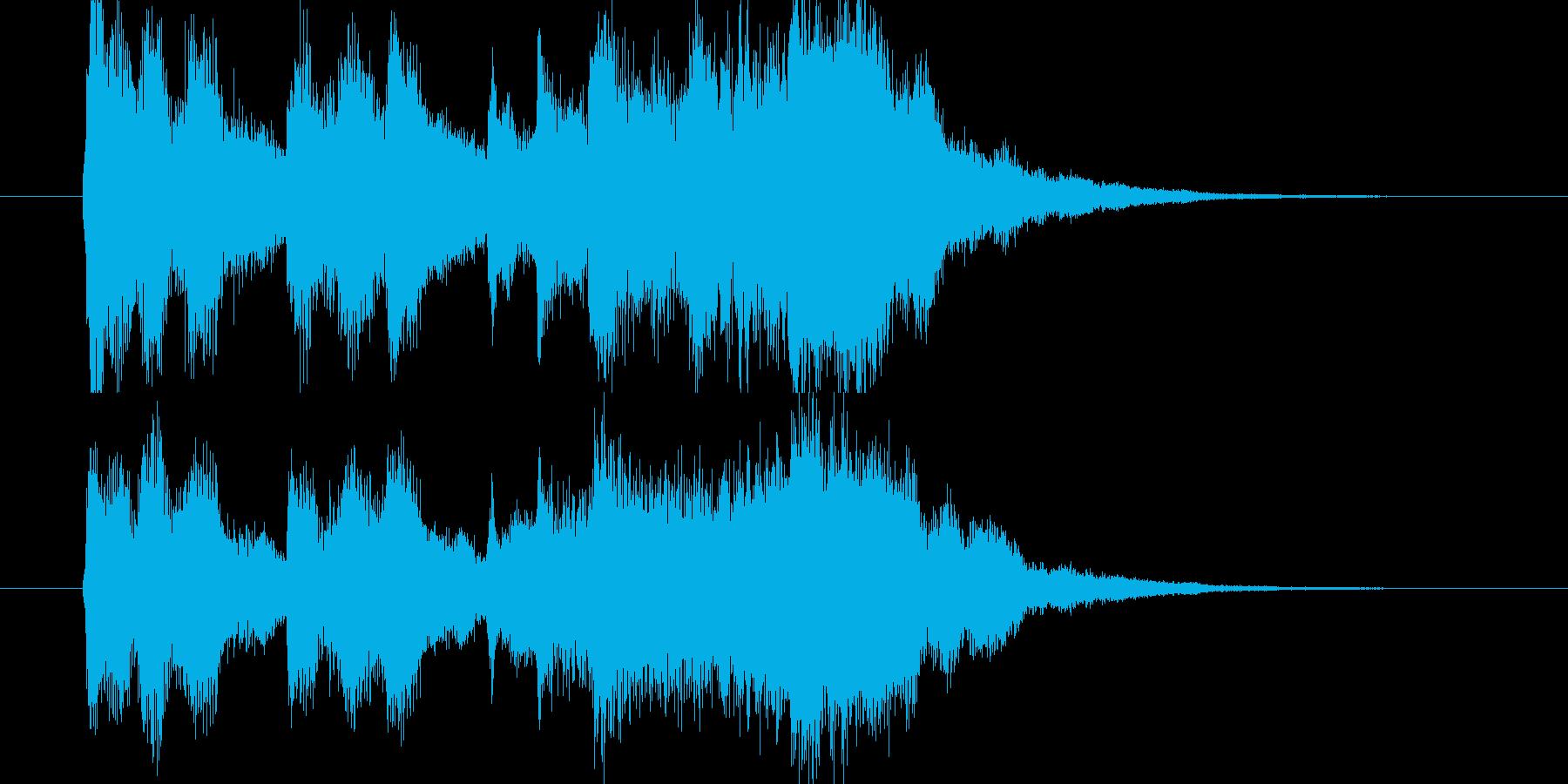 ディズニーっぽいストリングスのジングルの再生済みの波形