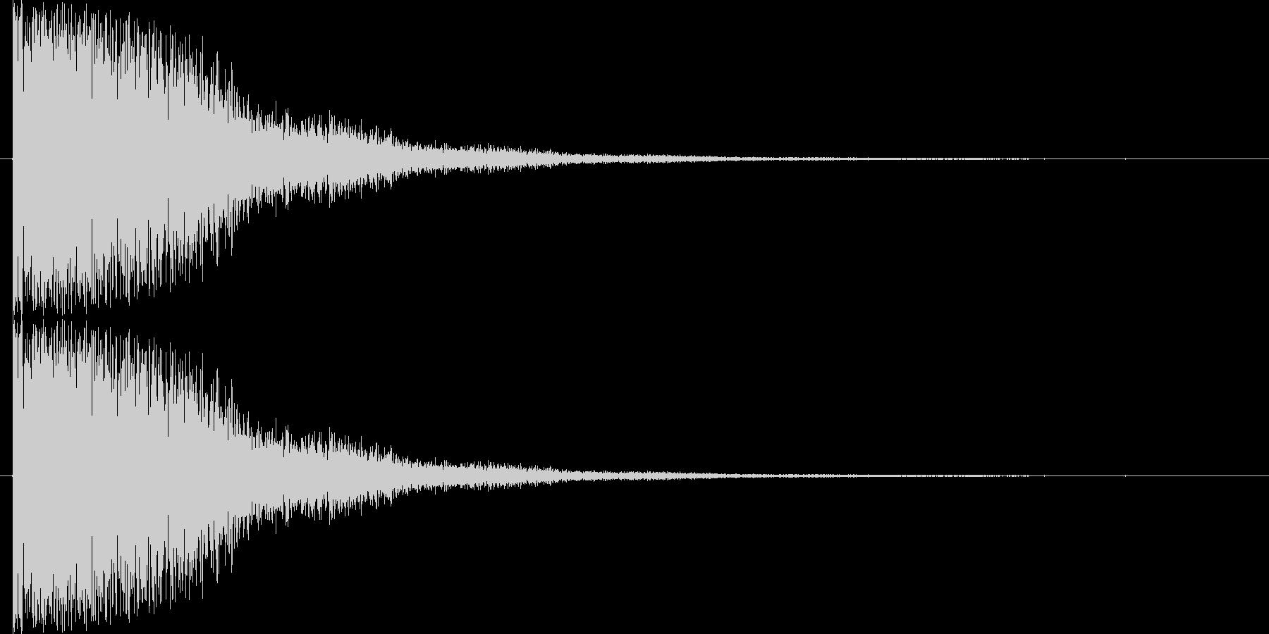 短い銅鑼の音3の未再生の波形