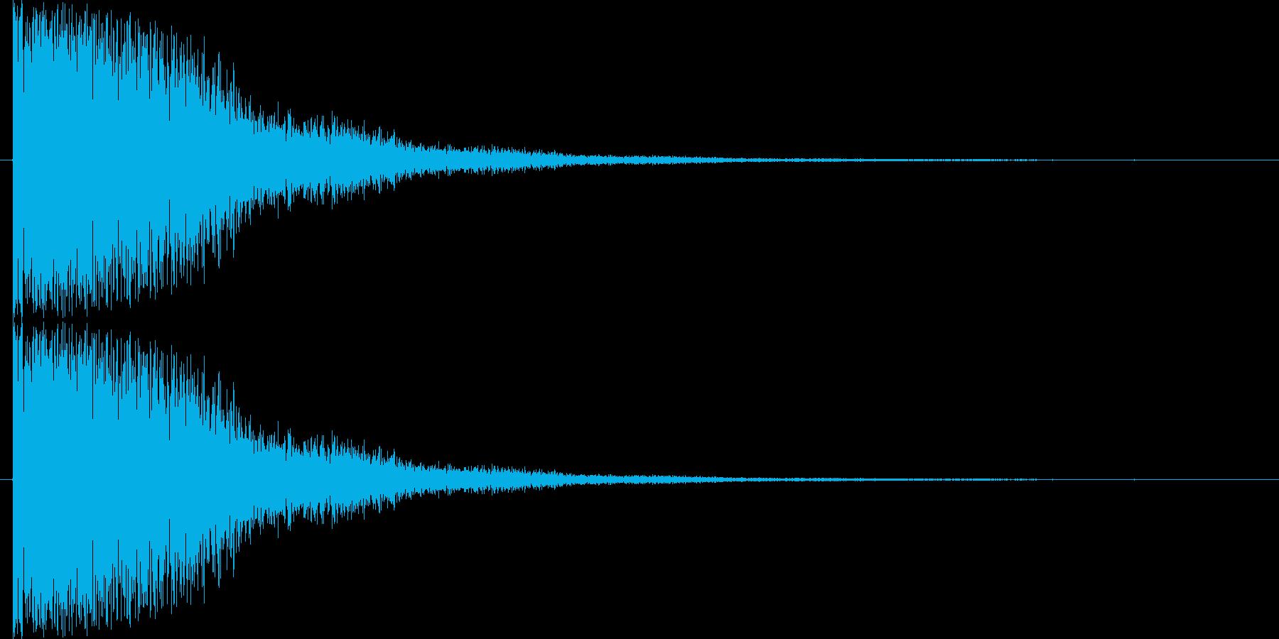 短い銅鑼の音3の再生済みの波形