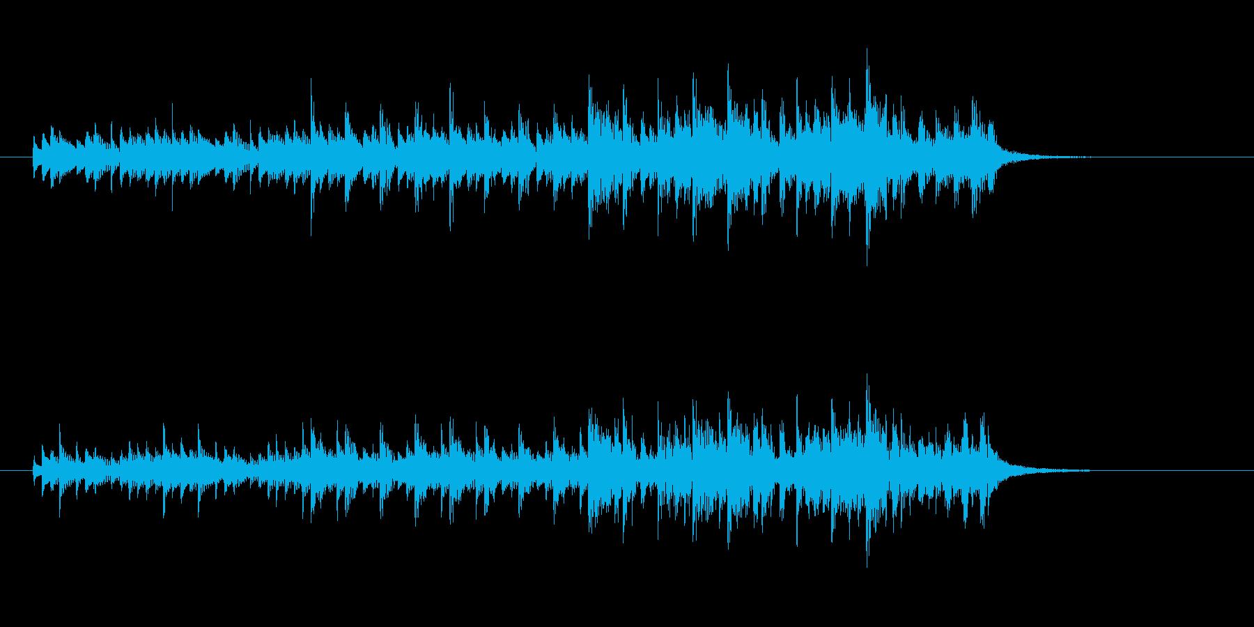 ミニマル系テクノサウンドの再生済みの波形