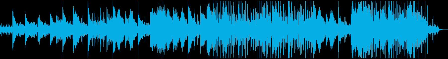ピアノとストリングス中心のサスペンス風の再生済みの波形
