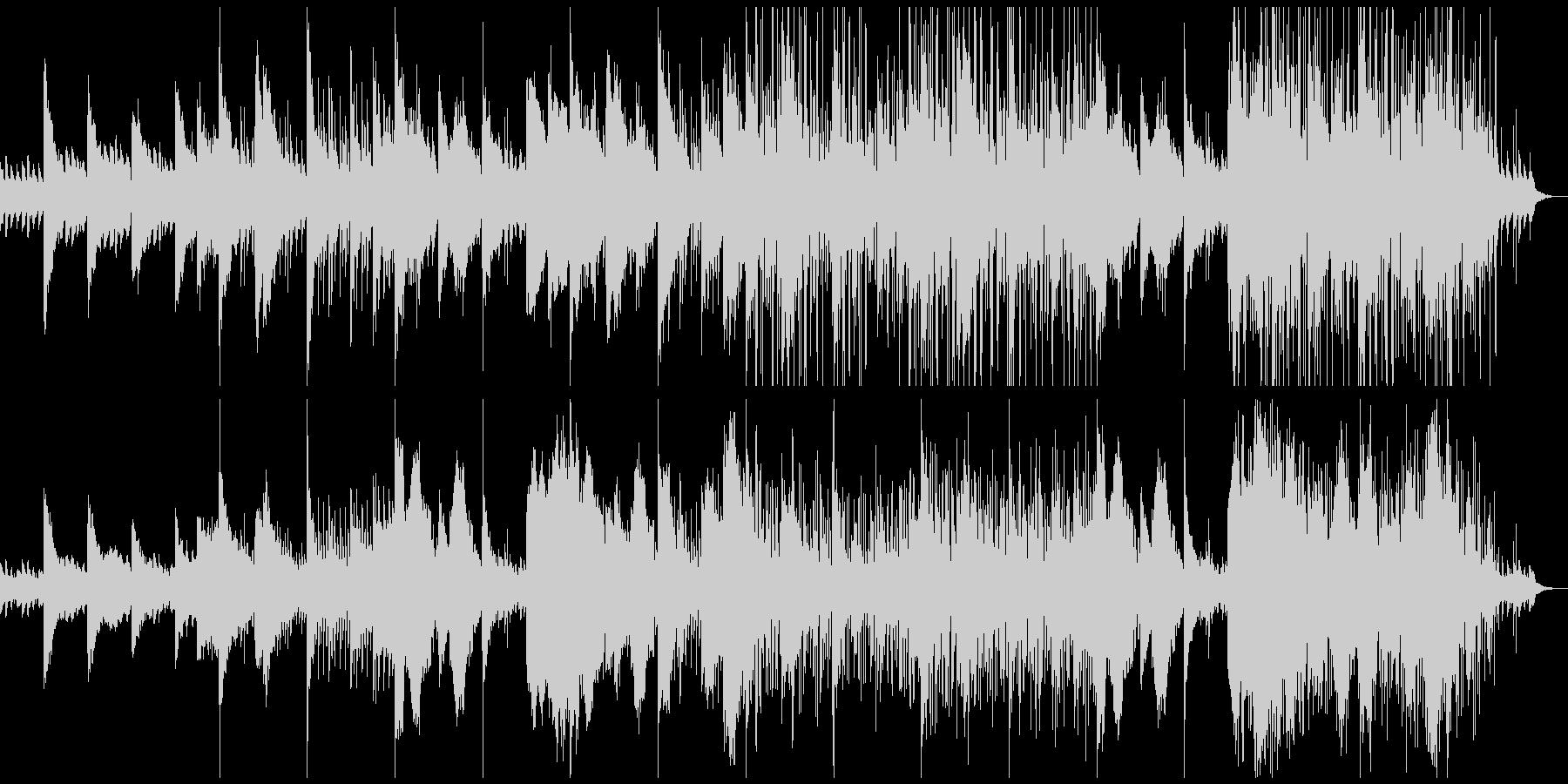 ピアノとストリングス中心のサスペンス風の未再生の波形