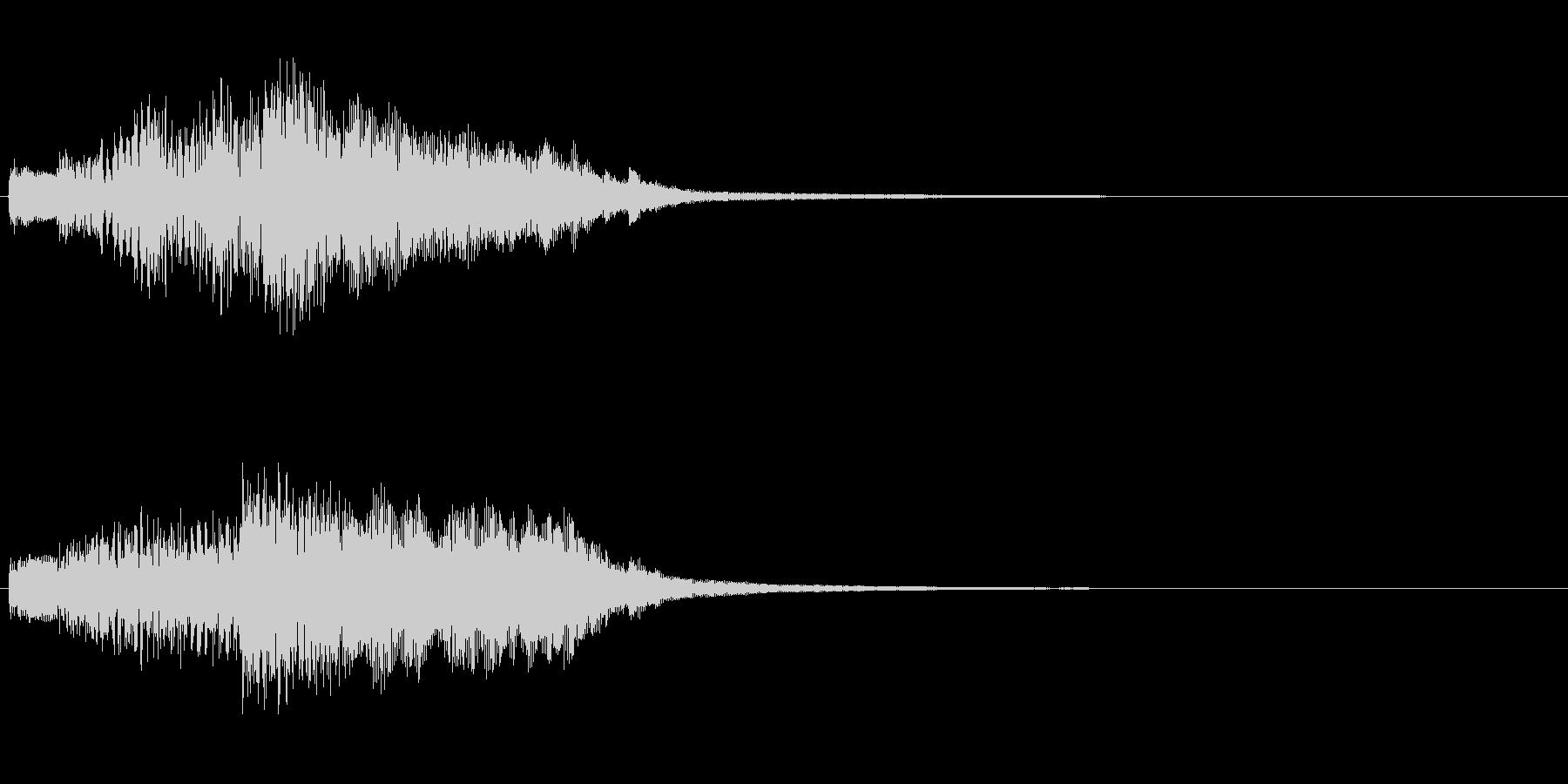 ハープのグリス(上り)を手弾きでの未再生の波形