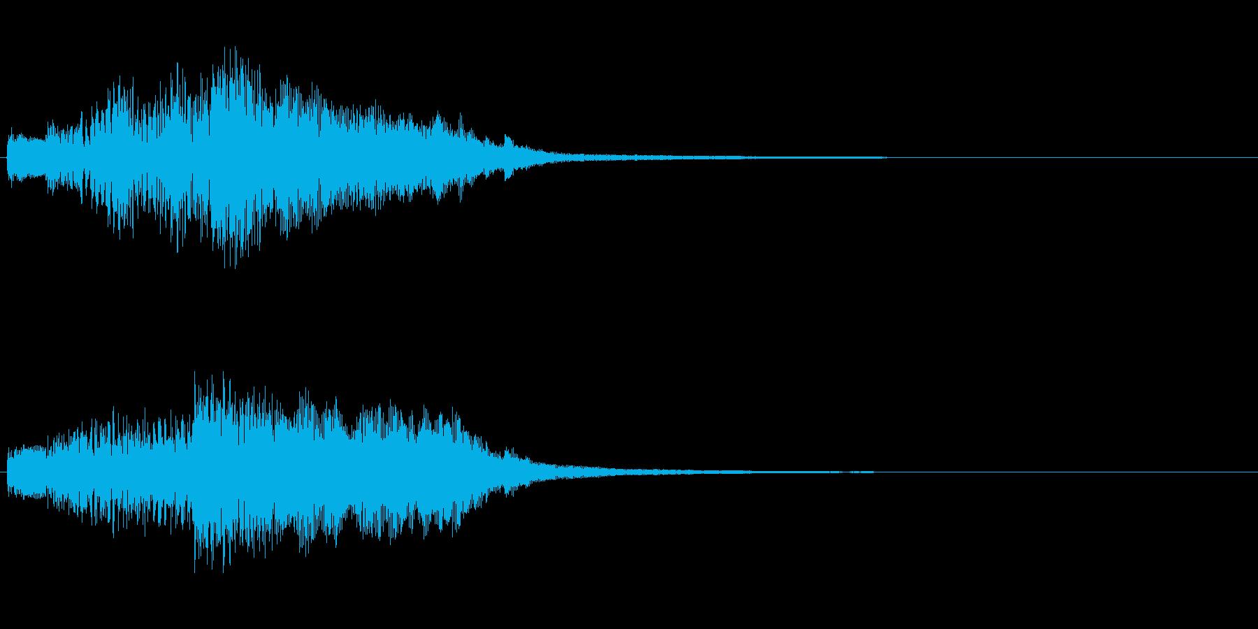 ハープのグリス(上り)を手弾きでの再生済みの波形