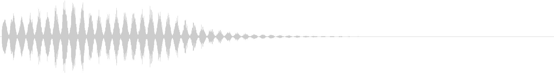魔法音11(風系)の未再生の波形