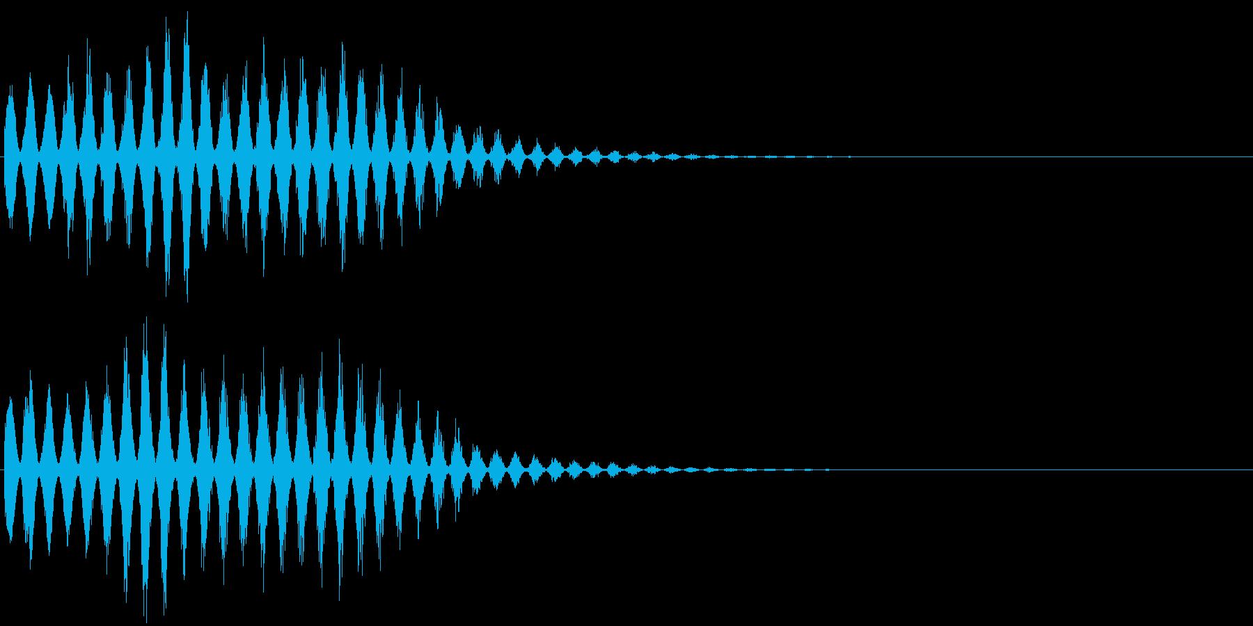 魔法音11(風系)の再生済みの波形