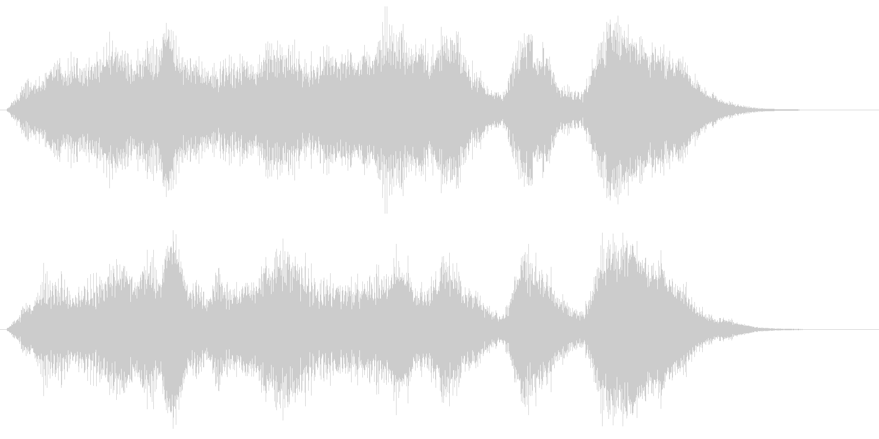 ホルンとストリングスの爽やかサウンドロゴの未再生の波形
