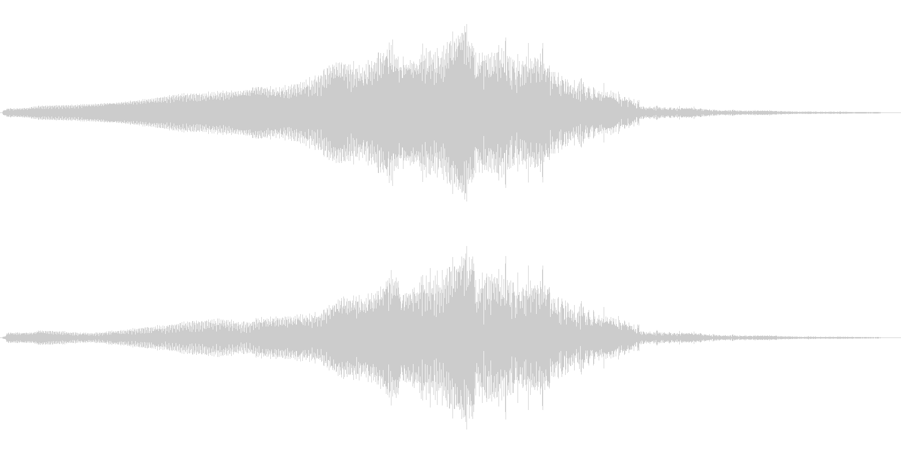 ウィ〜ンダダダ(何かが近づき、離れる音)の未再生の波形