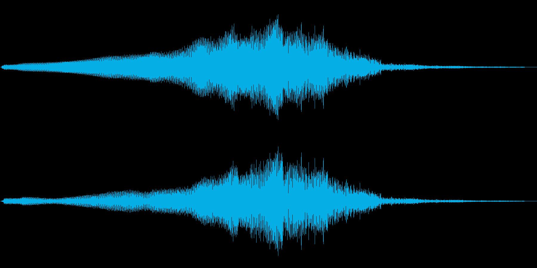 ウィ〜ンダダダ(何かが近づき、離れる音)の再生済みの波形