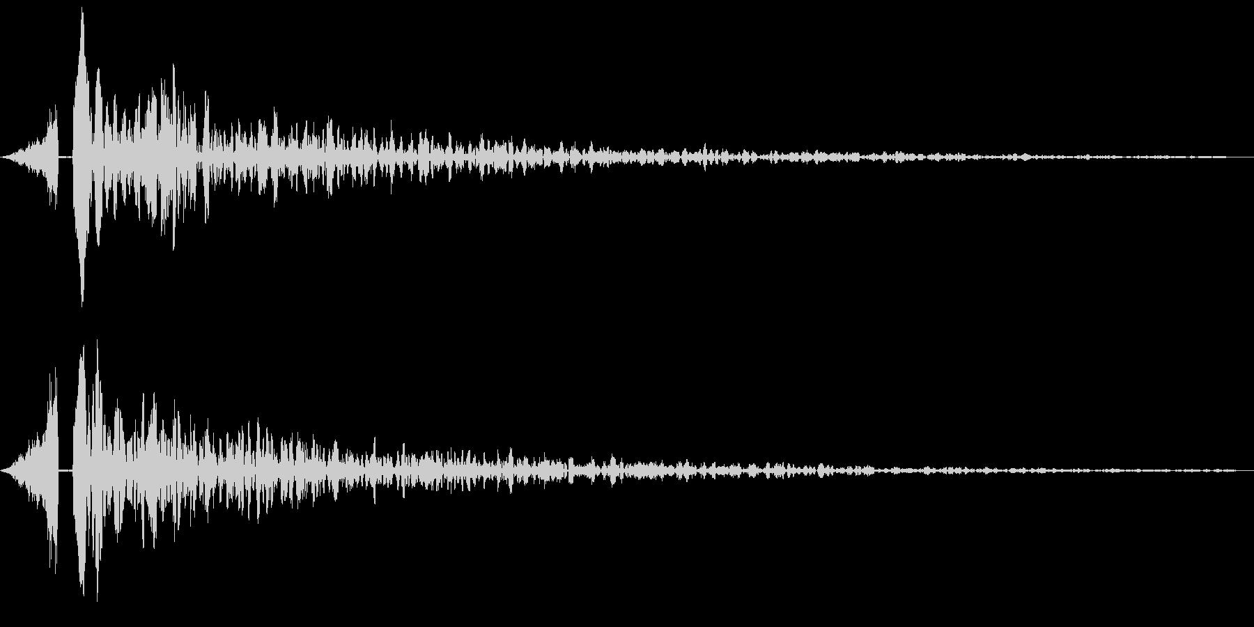 シューンドーン:インパクト音の未再生の波形