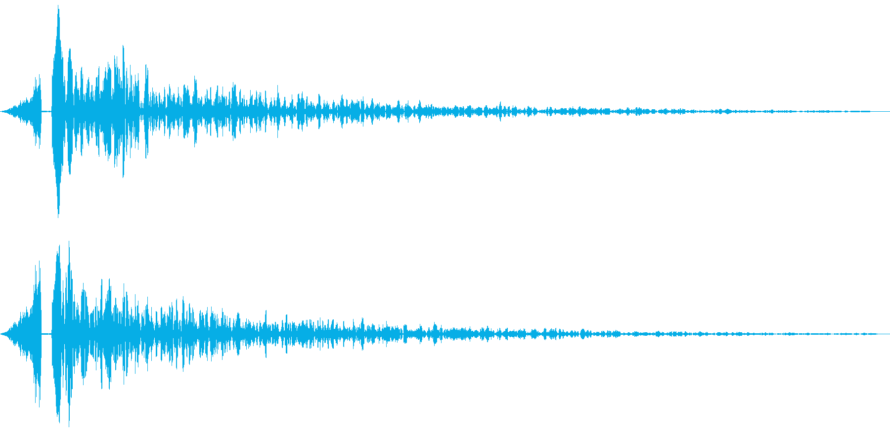 シューンドーン:インパクト音の再生済みの波形