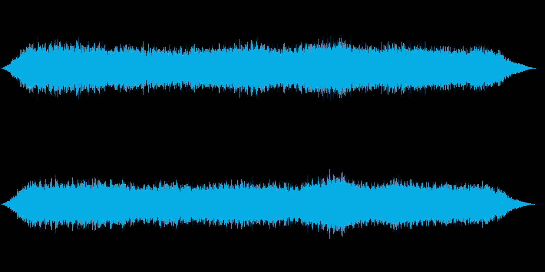 神秘的な雰囲気のアンビエント背景音10の再生済みの波形