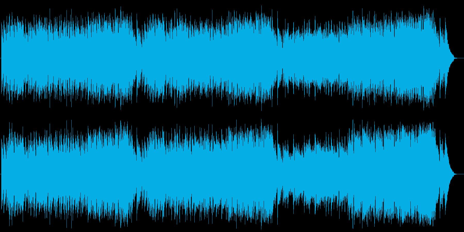 軽快なエレピとベースが特徴のポップスの再生済みの波形