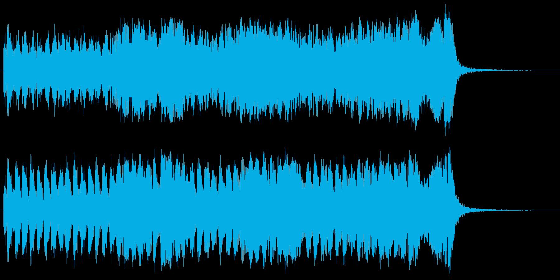 和風で勇ましい、行進曲調のイントロ曲の再生済みの波形