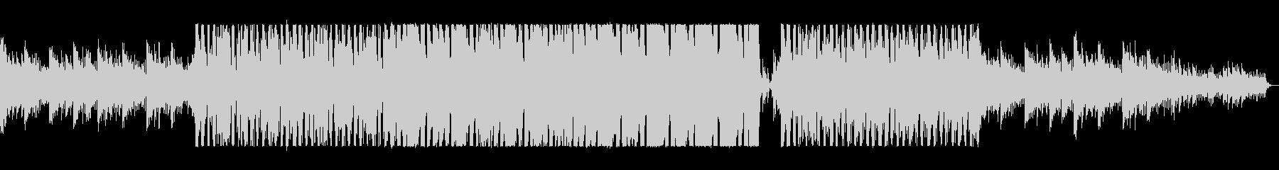アップテンポで疾走感あるシンセサイザー曲の未再生の波形