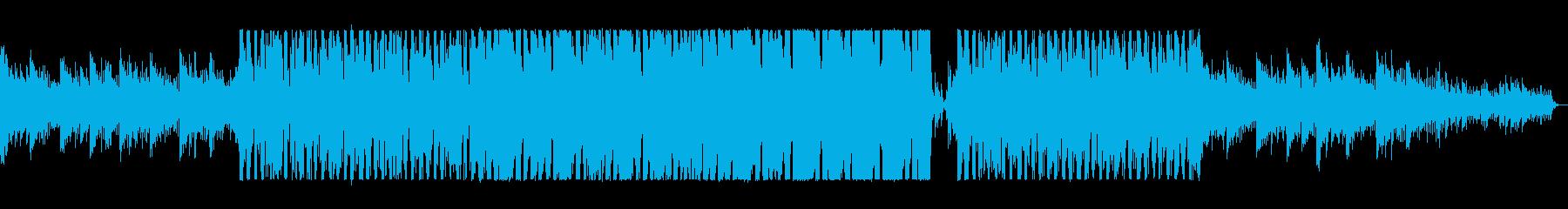 アップテンポで疾走感あるシンセサイザー曲の再生済みの波形