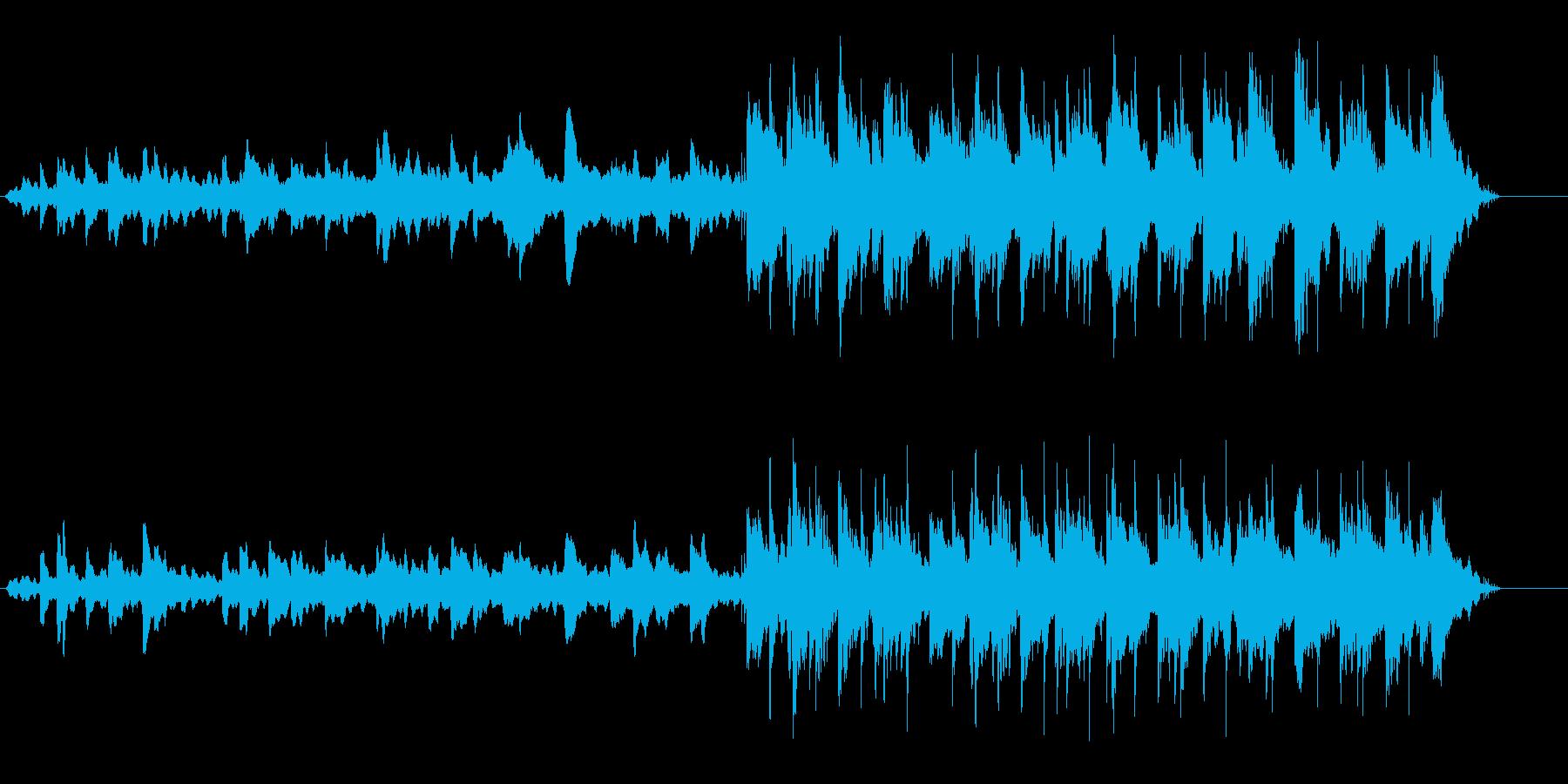 水中にゆっくりと沈んでいくようなBGMの再生済みの波形
