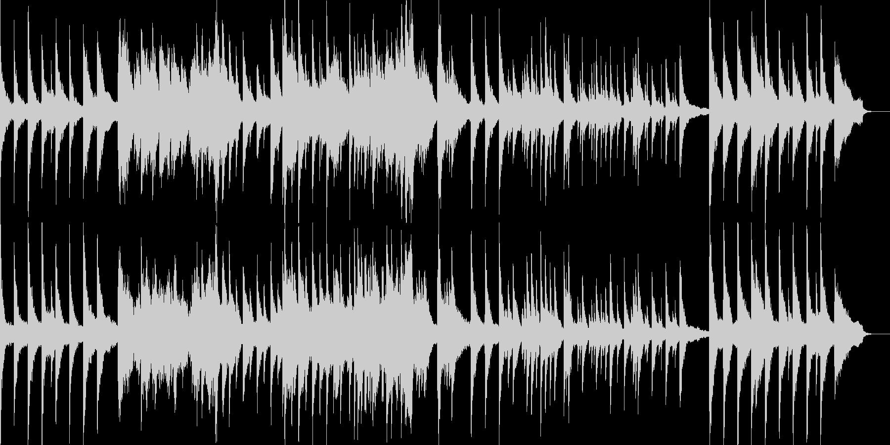 幻想と時の流れをテーマにしたピアノソロの未再生の波形